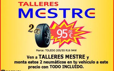 Cambia los neumáticos de tu vehículo a precio irresistible