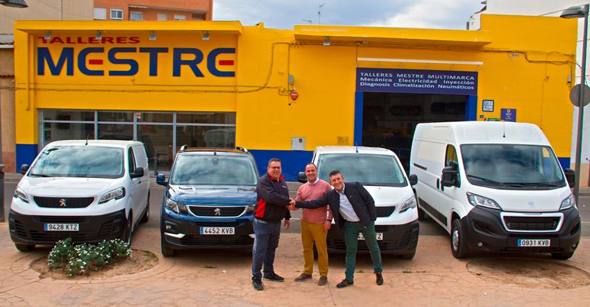 Maxim Domenech Choosemak adquiere su nueva flota de vehículos en Talleres Mestre